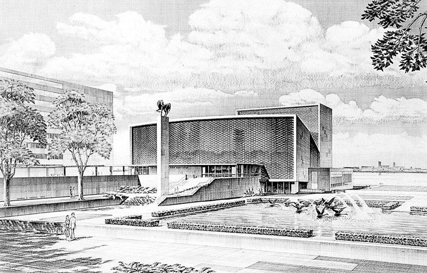 Church Auditorium Drawings Ford Memorial Auditorium